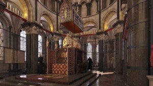 Reconstruction of the Shrine of Thomas Becket, Canterbury Cathedral c.1408/ ©The Centre for the Study of Christianity and Culture, University of York, 2020
